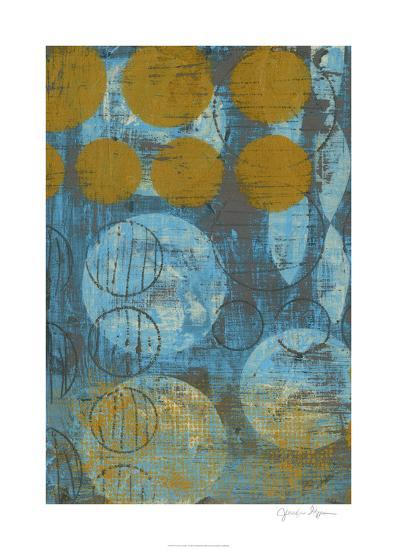 Textured Circles I-Jennifer Goldberger-Limited Edition