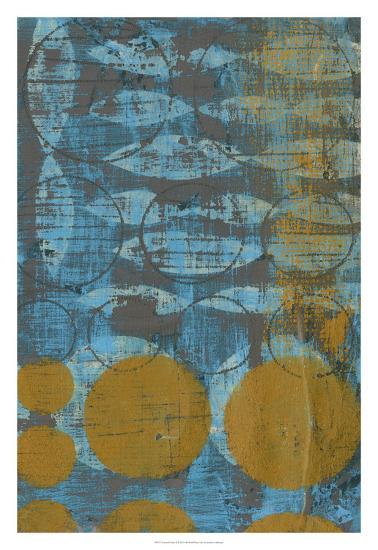 Textured Circles II-Jennifer Goldberger-Premium Giclee Print