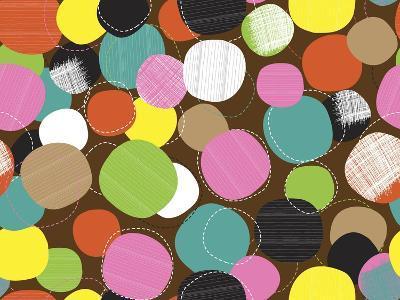 Textured Circles-Joanne Paynter Design-Giclee Print