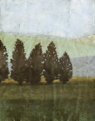 Textured Evergreen I--Art Print