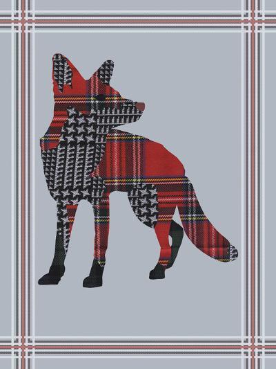 Textured Fox-Fergus Dowling-Giclee Print