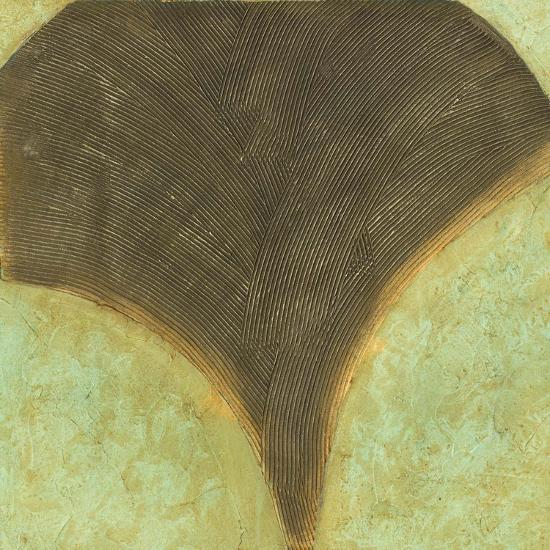 Textured Ginkgo I-Jennifer Goldberger-Art Print