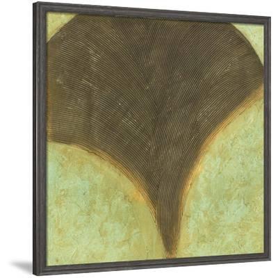 Textured Ginkgo I-Jennifer Goldberger-Framed Art Print