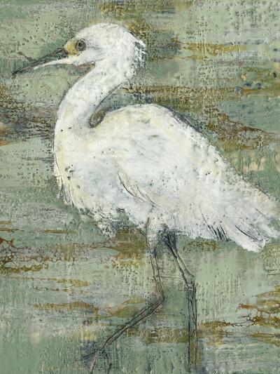 Textured Heron I-Jennifer Goldberger-Art Print