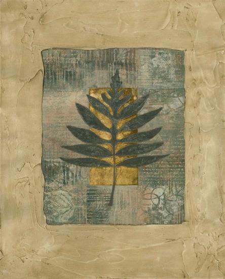 Textured Leaf Fresco I--Art Print