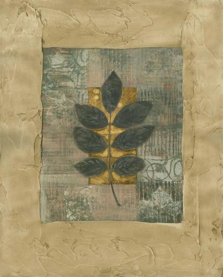 Textured Leaf Fresco II--Art Print