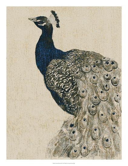 Textured Peacock II-Grace Popp-Giclee Print