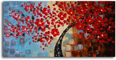 Textured Red Bouquet Tree