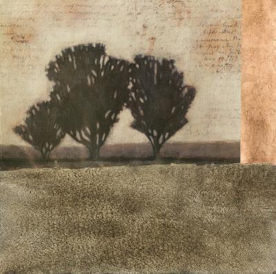 Textured Sepia Landscape II--Art Print