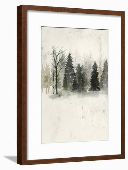 Textured Treeline II-Grace Popp-Framed Art Print