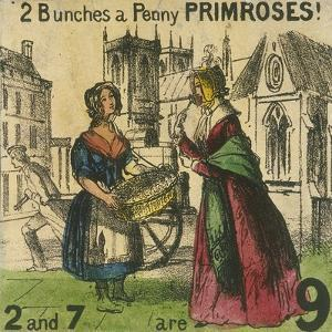 2 Bunches a Penny Primroses!, Cries of London, C1840 by TH Jones