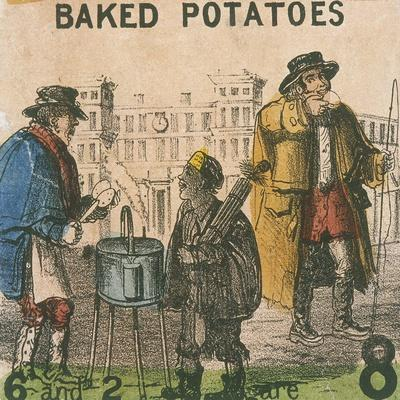 Baked Potatoes, Cries of London, C1840