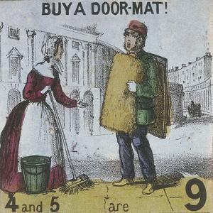 Buy a Door-Mat!, Cries of London, C1840 by TH Jones