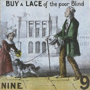 Buy a Lace of the Poor Blind, Cries of London, C1840 by TH Jones