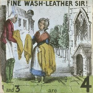 Fine Wash-Leather Sir!, Cries of London, C1840 by TH Jones