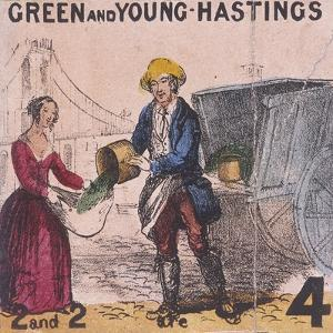 Green and Young Hastings, Cries of London, C1840 by TH Jones