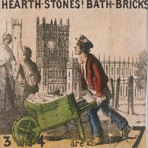 Hearth-Stones! Bath-Bricks!, Cries of London, C1840 by TH Jones