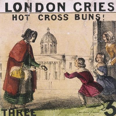 Hot Cross Buns!, Cries of London, C1840