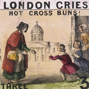 Hot Cross Buns!, Cries of London, C1840 by TH Jones