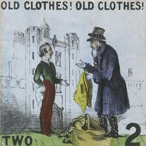 Old Clothes! Old Clothes!, Cries of London, C1840 by TH Jones