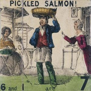 Pickled Salmon!, Cries of London, C1840 by TH Jones