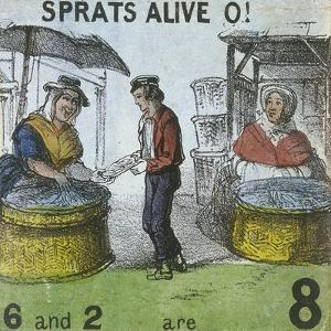 Sprats Alive O!, Cries of London, C1840 by TH Jones