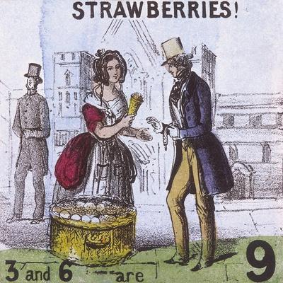 Strawberries!, Cries of London, C1840
