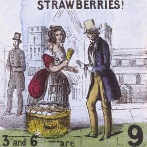 Strawberries!, Cries of London, C1840 by TH Jones