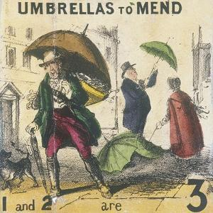Umbrellas to Mend, Cries of London, C1840 by TH Jones