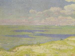 View of the River Scheldt, 1893 by Th?o van Rysselberghe