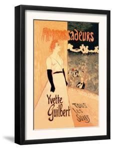 Ambassadeurs: Yvette Guilbert, Tous les Soirs, c.1894 by Th?ophile Alexandre Steinlen