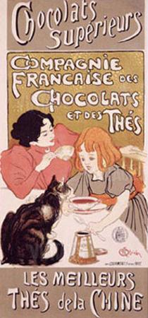 Chocolats et Thes by Th?ophile Alexandre Steinlen