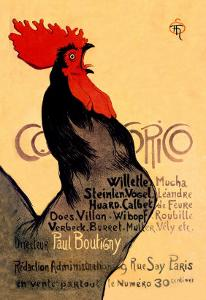 Cocorico, c.1899 by Th?ophile Alexandre Steinlen