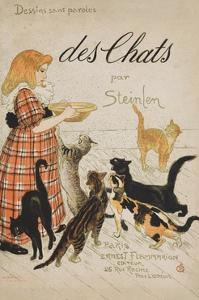 Des Chats Book Cover by Th?ophile Alexandre Steinlen