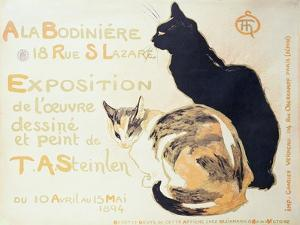 Exposition a La Bodiniere..., Poster Advertising an Exhibition of New Work, 1894 by Th?ophile Alexandre Steinlen