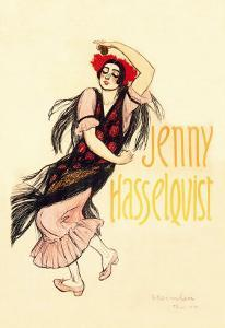 Jenny Hasselquist, c.1920 by Th?ophile Alexandre Steinlen