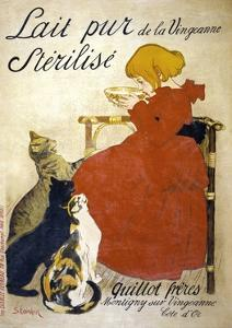 Lait Pur Sterilise Poster by Th?ophile Alexandre Steinlen