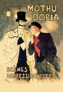 Mothu et Doria: Scenes Impressionnistes by Th?ophile Alexandre Steinlen