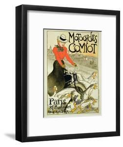 Reproduction of a Poster Advertising Comiot Motorcycles, 1899 by Th?ophile Alexandre Steinlen