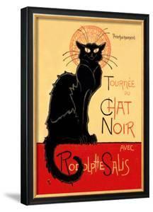 Tournee du Chat Noir Avec Rodolptte Salis by Th?ophile Alexandre Steinlen