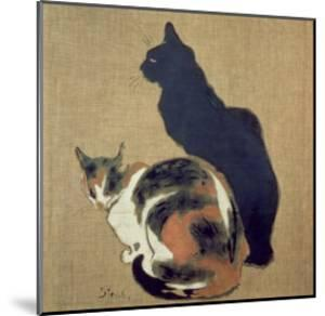 Two Cats, 1894 by Th?ophile Alexandre Steinlen