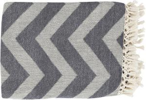 Thacker Throw - Ivory/Charcoal