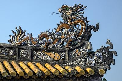 Thai Hoa Palace Dated 19th Century, Roof Detail-Nathalie Cuvelier-Photographic Print