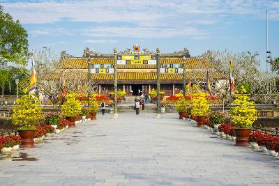 Thai Hoa Palace (Hall of Supreme Harmony) Beyond the Bridge of Golden Water, Vietnam-Jason Langley-Photographic Print