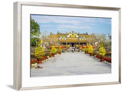 Thai Hoa Palace (Hall of Supreme Harmony) Beyond the Bridge of Golden Water, Vietnam-Jason Langley-Framed Photographic Print