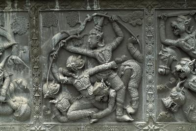 Thailand, Ayutthaya, Wat Chanam Choeng Temple, Decorated Reliefs--Giclee Print