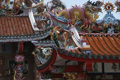 Thailand, Bangkok, Chinese Reliquary Nearby Floating Market--Giclee Print