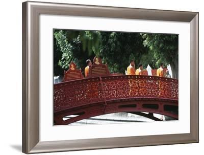 Thailand, Bangkok, Wat Bentchama Bo Bitr--Framed Giclee Print
