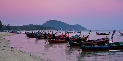 Thailand, Phuket, Rawai Beach, Longtail, Evening-Steffen Beuthan-Photographic Print