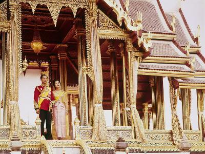 Thailand's King Bhumibol Adulyadej with Wife, Queen Sirikit at the Palace-John Dominis-Premium Photographic Print